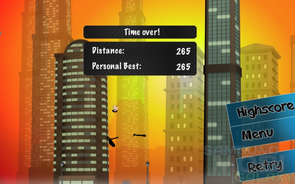 Игра Rope'n'Fly - From Dusk для Samsung Galaxy Note S III Ace 2 и Gio