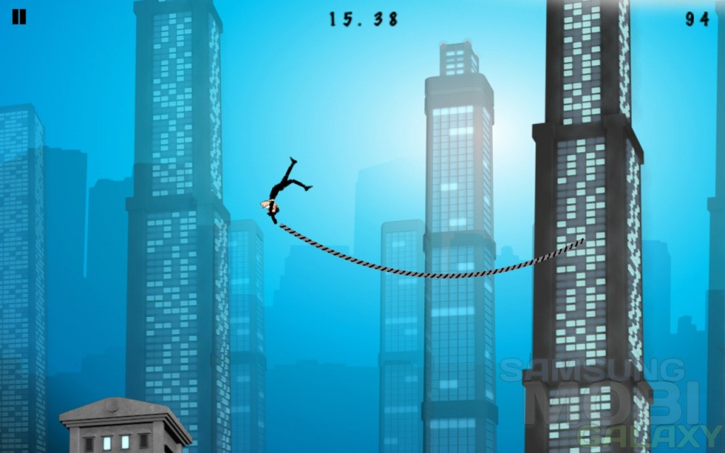 Игра Rope'n'Fly - From Dusk для Samsung Galaxy Note S III Ace 2 и Gio