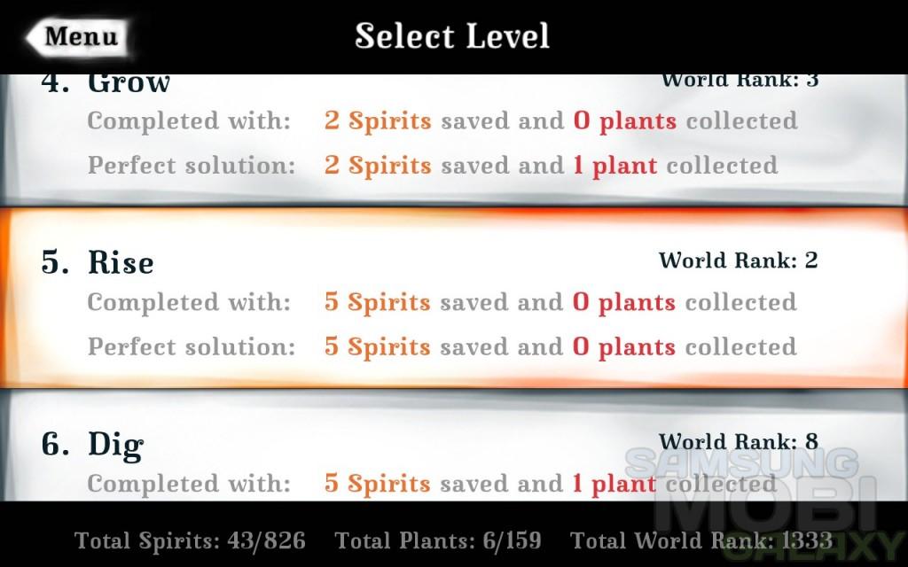 Обзор игры Spirits - уровни