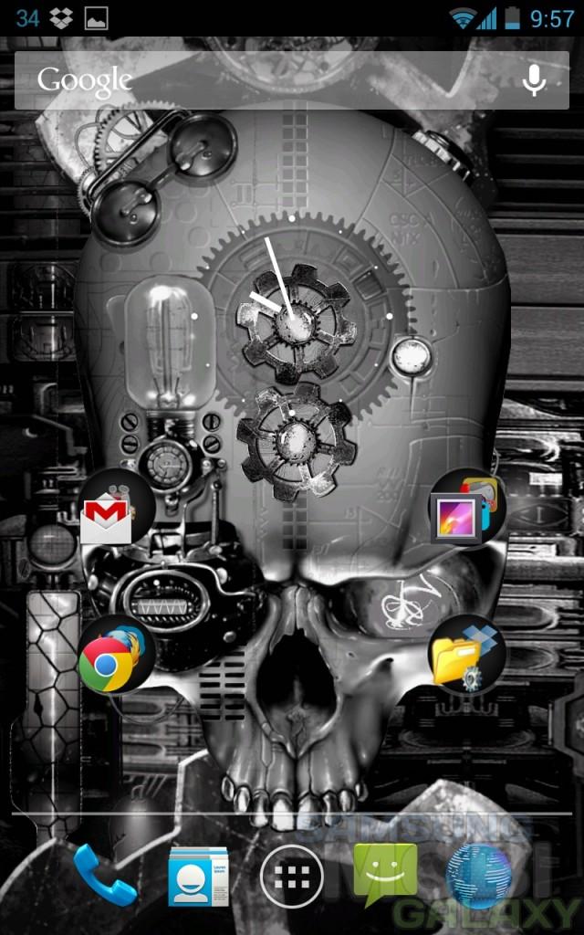 Steampunk Skull - живые обои для Андроид