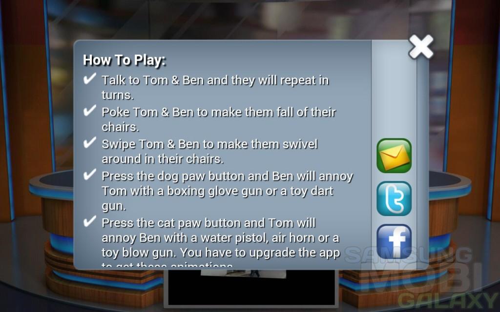 Talking Tom & Ben News - инструкция