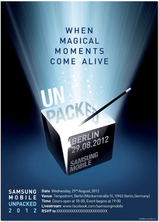 Samsung Mobile UNPACKED 2012