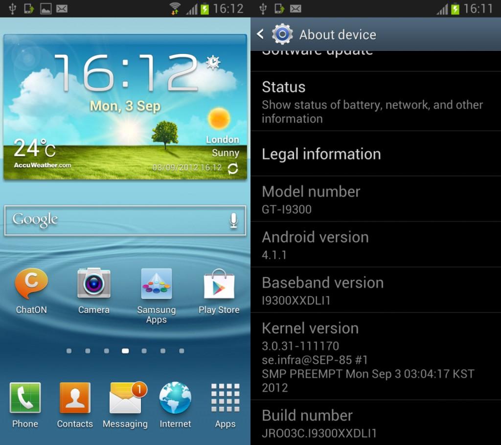 Прошивка I9300XXDLI1 для Galaxy S III