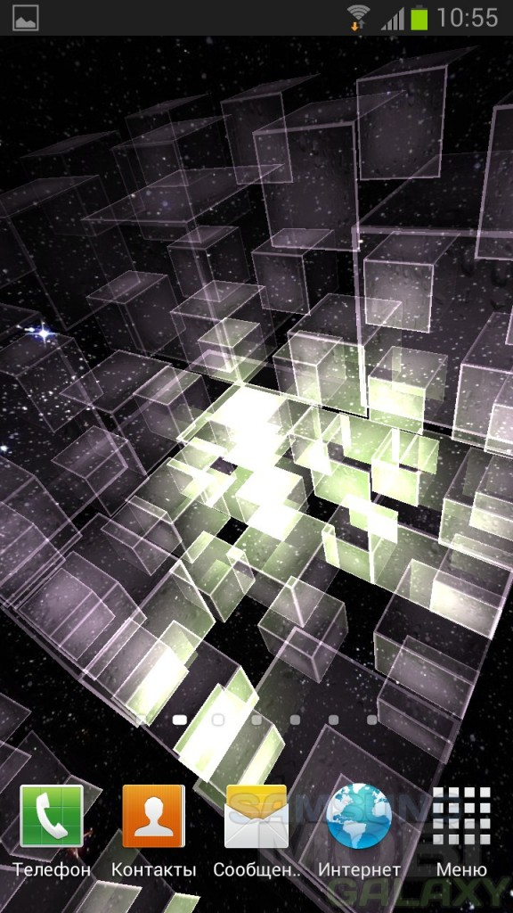 Matrix 3D Cubes 3 - интерактивные обои для Андроид