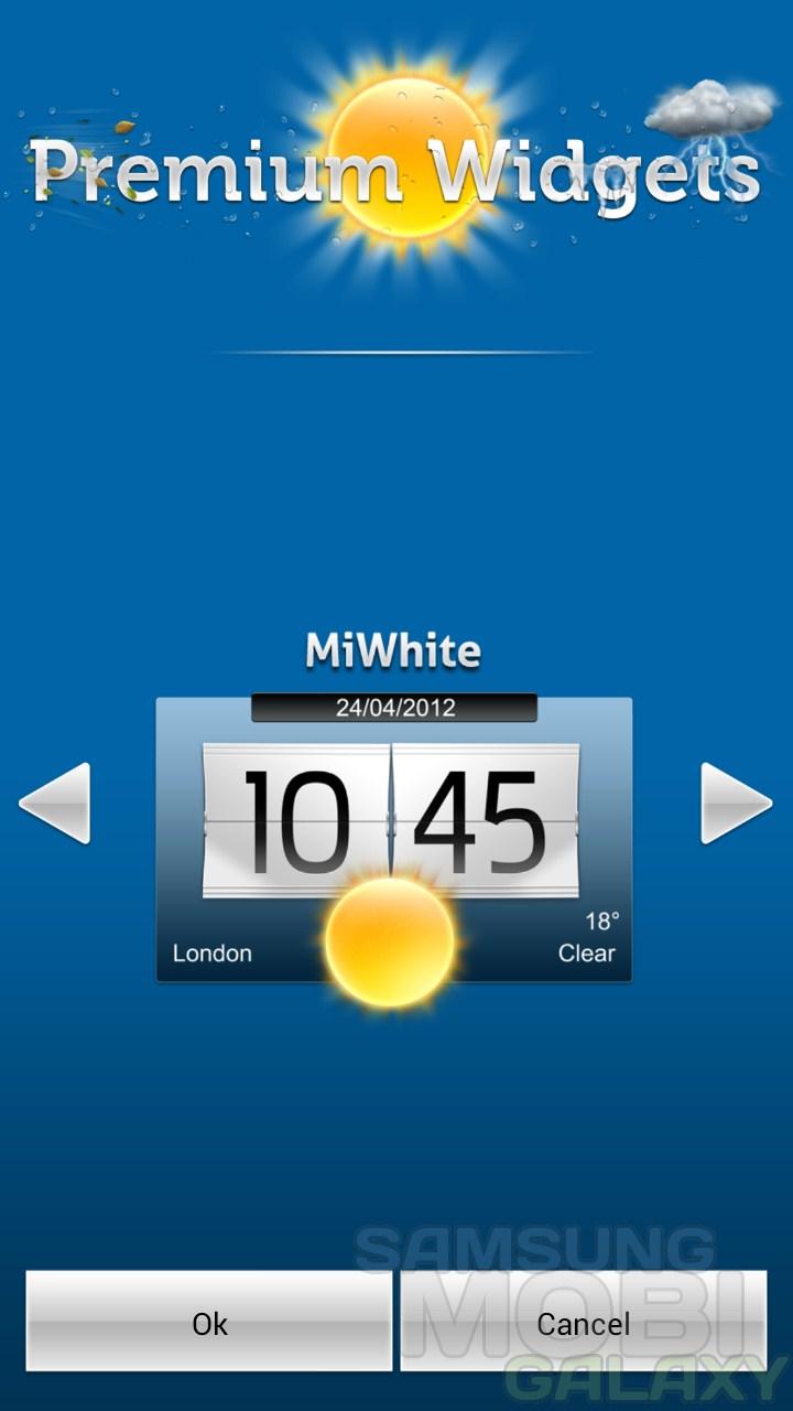 Premium Widgets & Weather - виджеты погоды с часами для Android