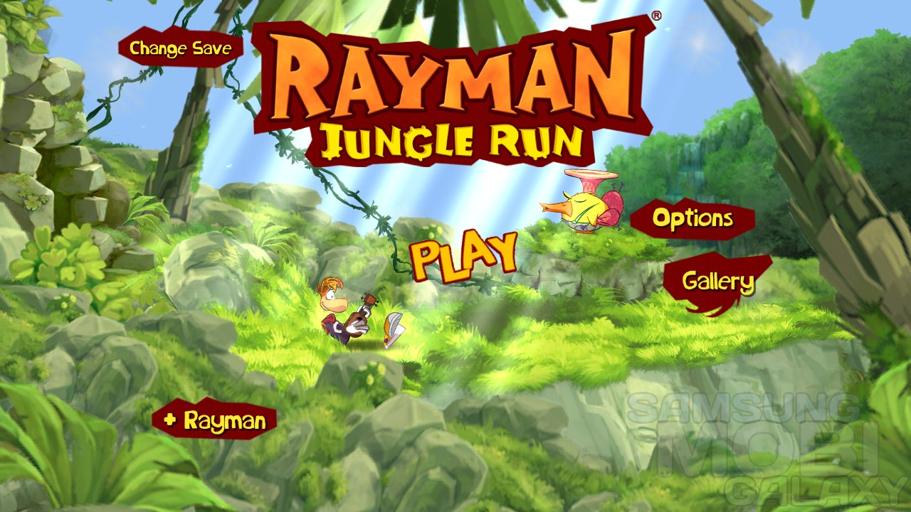 Rayman Jungle Run - игра для Samsung Galaxy Note S3 Ace 2 Tab и Gio