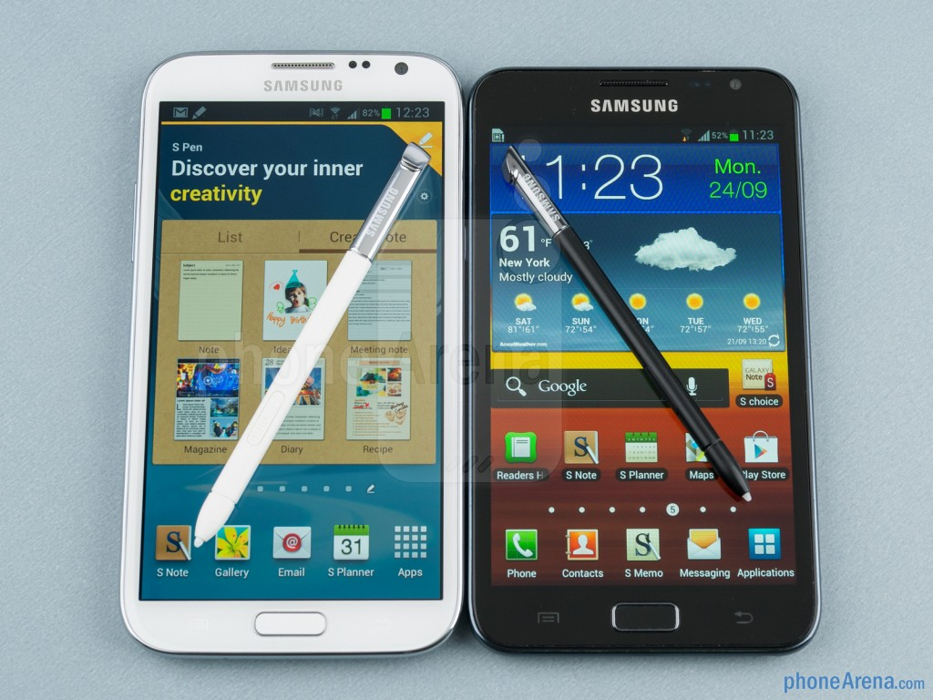 Сравнение Samsung Galaxy Note II и Galaxy Note N7000