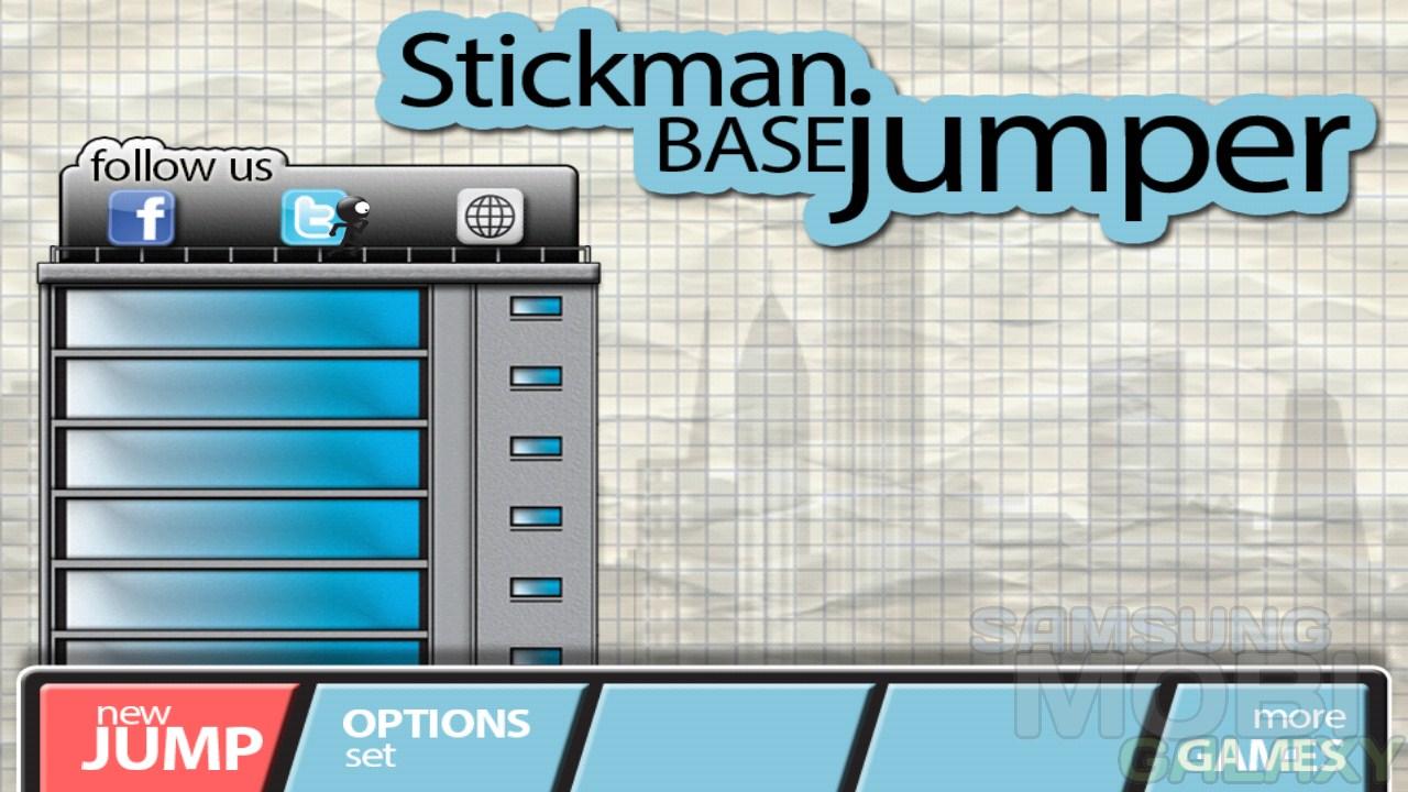 Игра Stickman Base Jumper для Samsung Galaxy