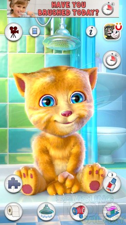 Talking Ginger - рыжий говорящий кот для Samsung Galaxy