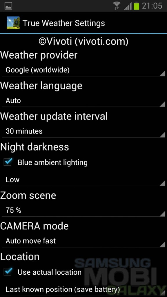 Обои True Weather LWP для Samsung Galaxy