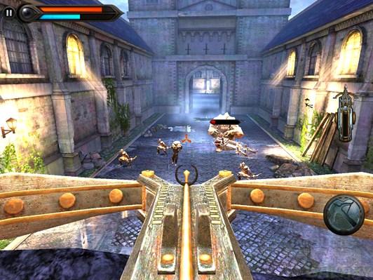 Игра Wild Blood для Android, стрелять из мега-арбалета