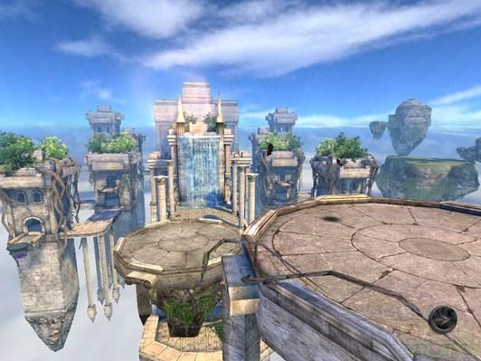 Игра Wild Blood для Android, город в воздухе