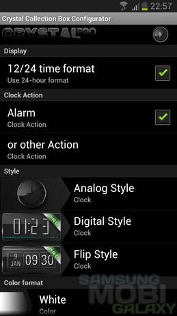 "Crystal Collection - ""стеклянные"" часы для Android"