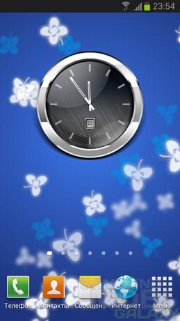 HD Metallic Widgets - часы, батареи и погода для Android