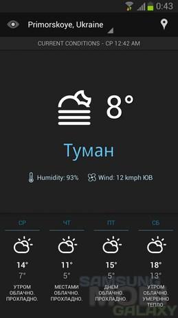 Виджет Погоды От Galaxy S4