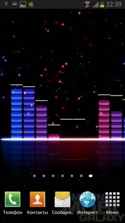 Audio Glow Live Wallpaper - живые обои с визуализацией