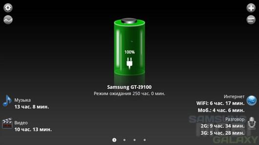 Battery HD Pro – мониторинг оставшегося заряда батареи для Android