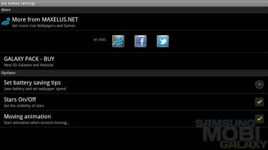 Ice Galaxy – галактика на вашем экране для Android