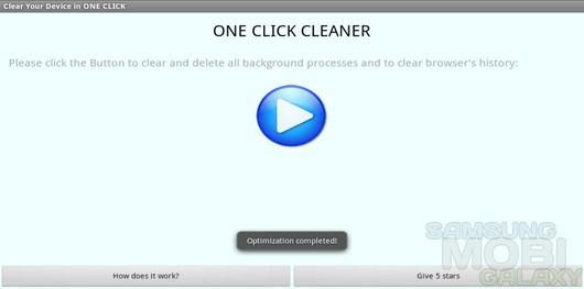 ONE CLICK CLEANER – прирост производительности в один клик для Android