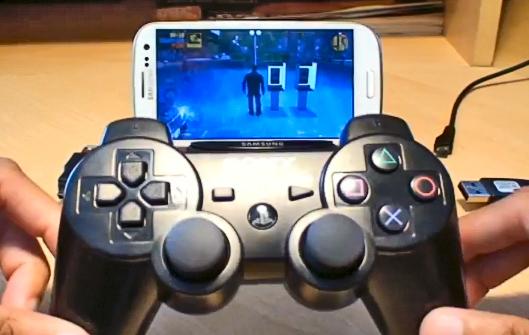 Джойстик от PlayStation 3 и Galaxy S3 i9300