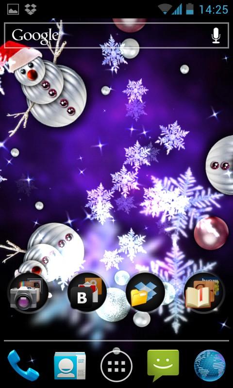 Snow Stars - анимированные снежинки для Самсунг Галакси