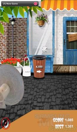 Trash Can – бросаем бумажку в урну для Android