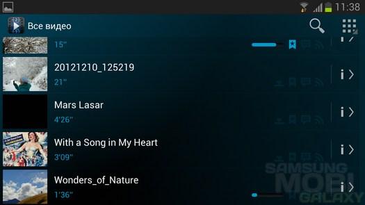 Archos Video Player для Samsung Galaxy S3 Ace 2 Note 2 Tab 2