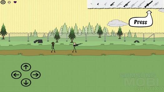 Игра Doodle Army для Samsung Galaxy S3 Ace 2 Note 2