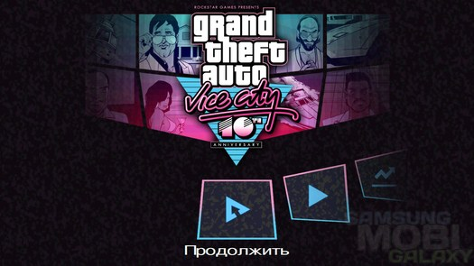 Игра Grand Theft Auto: Vice City для Samsung Galaxy S3 Note 2 Ace 2 Tab и Gio
