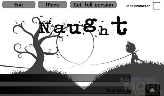 Naught – противостояние гравитации для Android