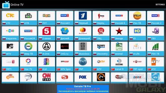 телевидение онлайн для андроид