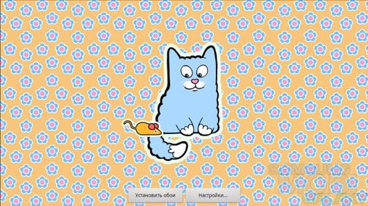 Plush Cat Free – мультяшный котик на экране для Android