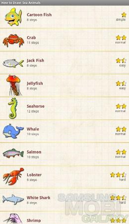 How to Draw: Sea Animals – учимся рисовать морских животных для Android
