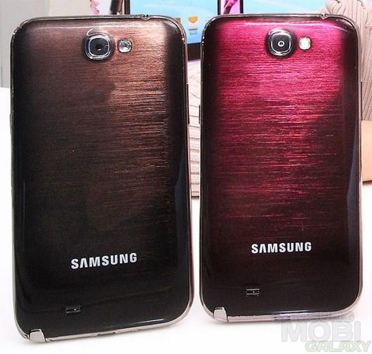 Официальное представление новых цветов для Galaxy Note 2: рубиновое вино и янтарно-коричневый.