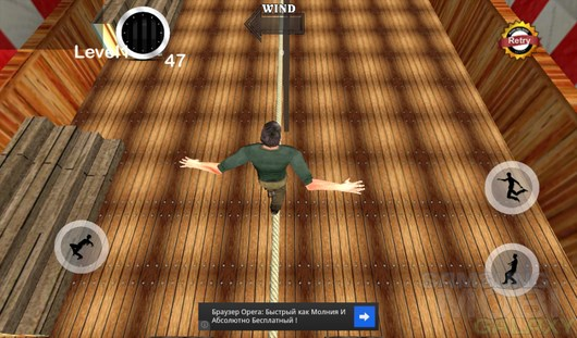 TightRope Walker 3D – держим баланс для Android