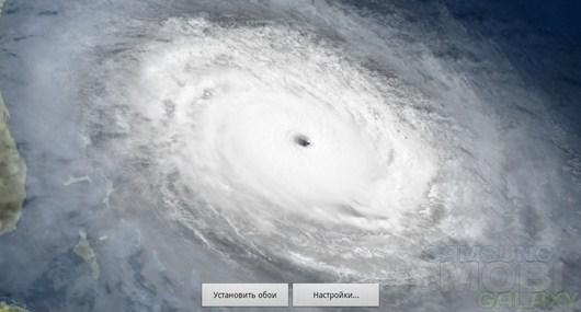 Hurricane HD Live Wallpaper – ураган из космоса для Android