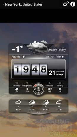 Weather Live – подробная погода на экране для Android