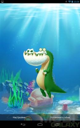 Alligator Jack Live Wallpaper – веселый аллигатор для Android