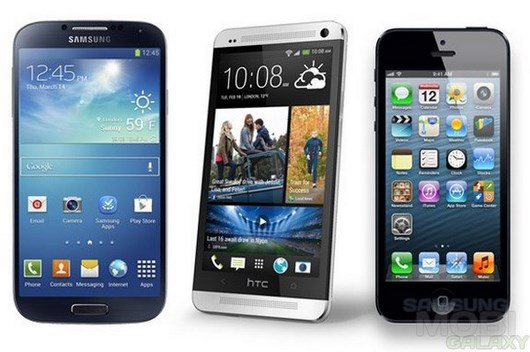 Бой титанов: Galaxy S4, HTC One и iPhone 5