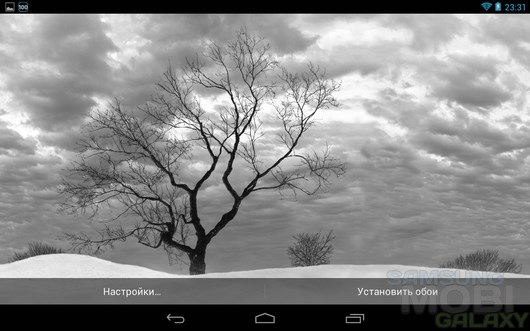 Lonely Tree Live Wallpaper – заснеженные пустоши для Android