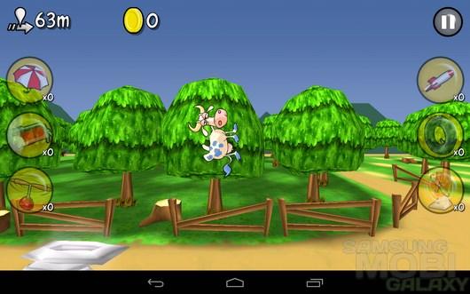Wacky Cows – летающие коровы для Android