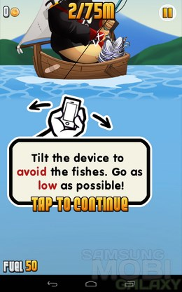 Ninja Fishing – ниндзя-рыбак для Android