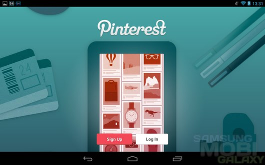 Pinterest – графическая социальная сеть для Android