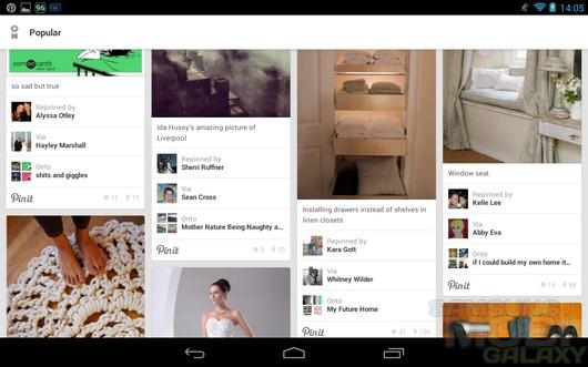 Pinterest – графическая социальная сеть  для Android