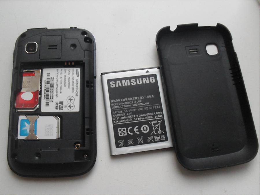 Так располагаются 2 сим-карты в смартфоне Samsung GALAXY Pocket DUOS GT-S5302