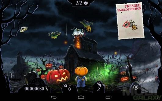 Shoot the zombirds – защищаем тыквы для Android