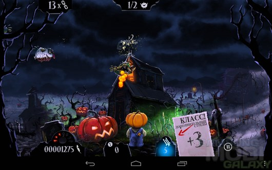 Shoot the zombirds – защищаем тыквы для Android