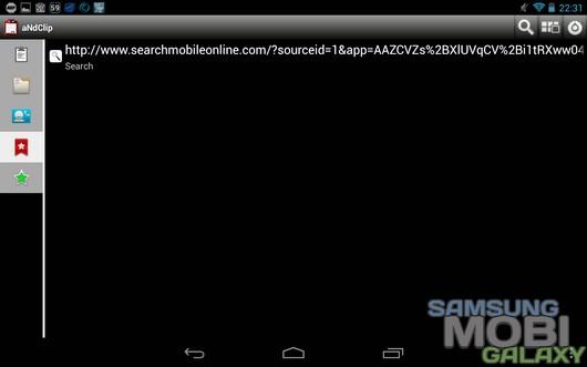 aNdClip – удобный буфер обмена для Android