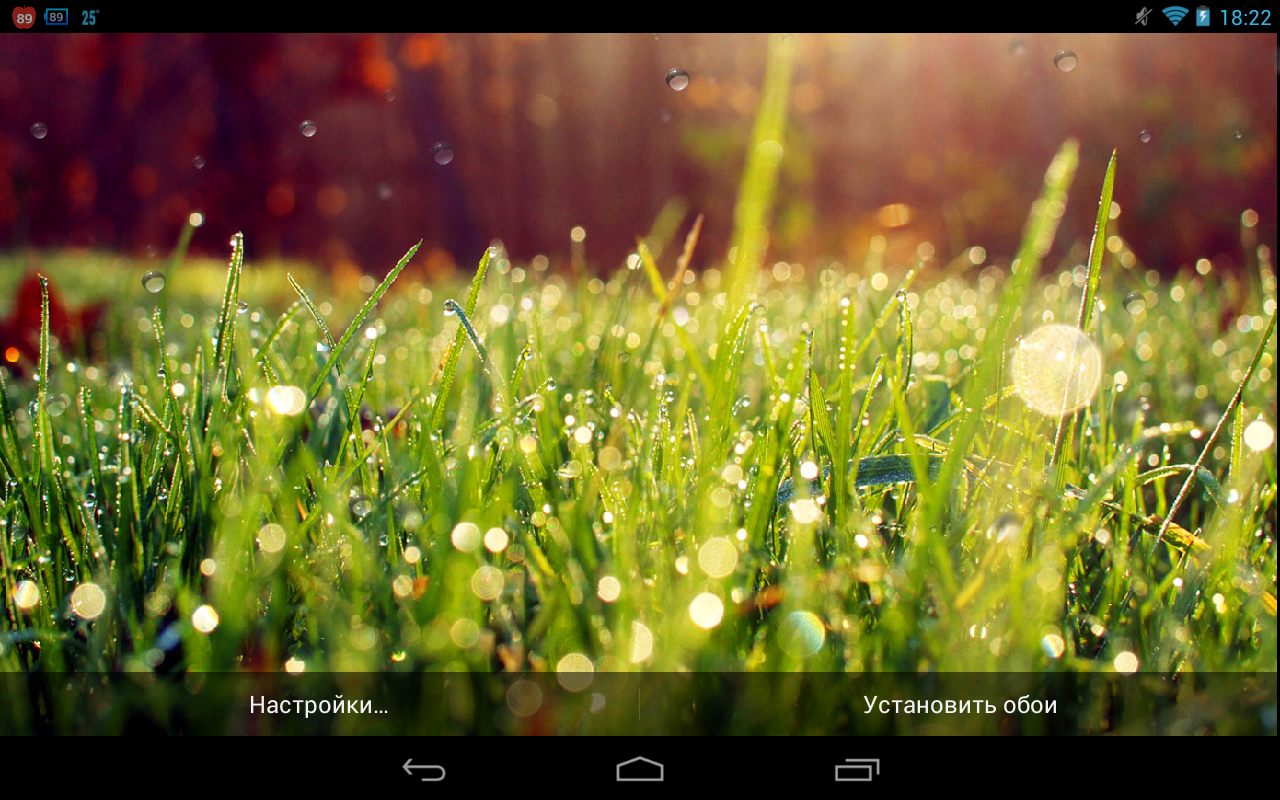 Galaxy S4 Rain n Grass – зеленая травка для Android