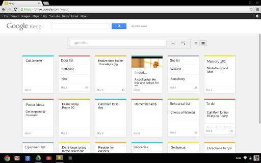 Синхронизация Google Keep с сервисом Google Drive